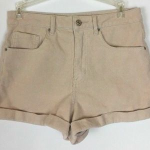 Womens Forever 21 Beige Corduroy Shorts Size 27